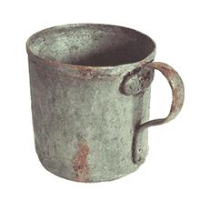 Oxidized copper mug