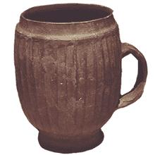Clay pot mug