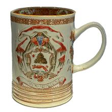 Porcelain Mug with arms of Sir John Lambert