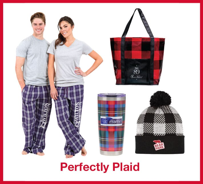 Plaid promotional products