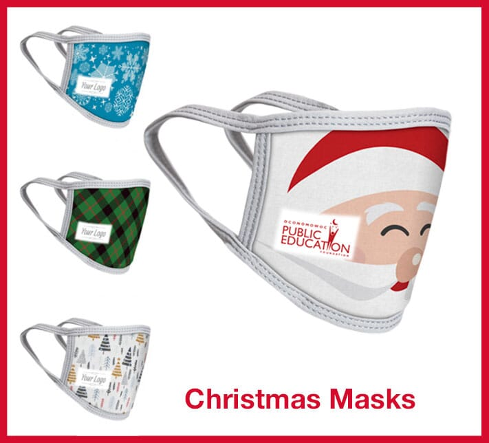 Masks with holiday designs