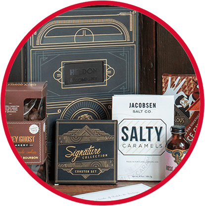 Holiday food gifts with logo