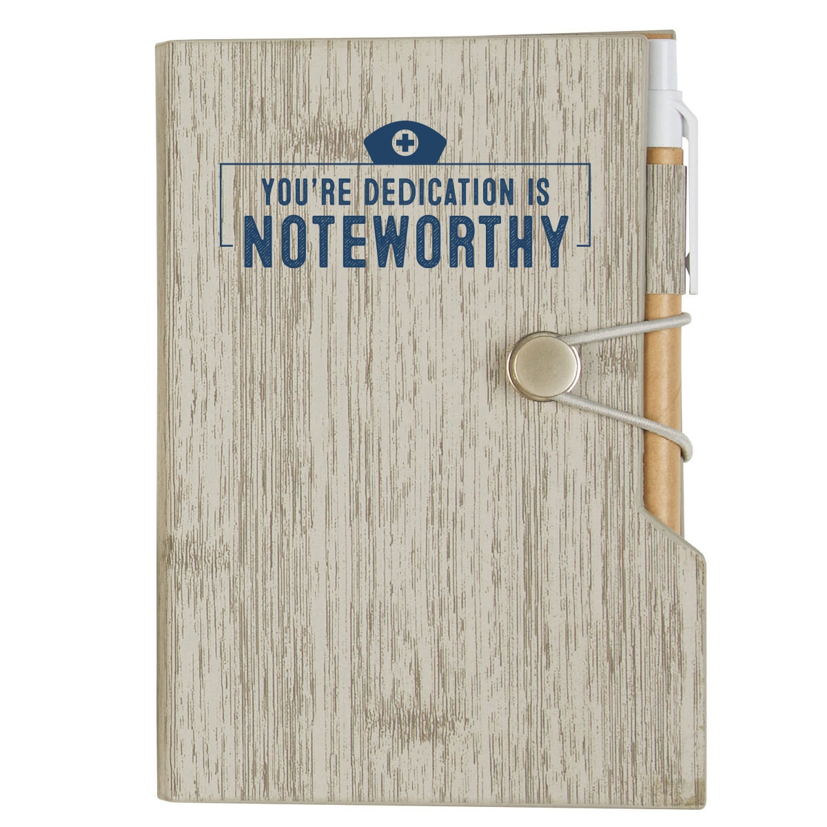 Notepad and pen set with nurse appreciation quote