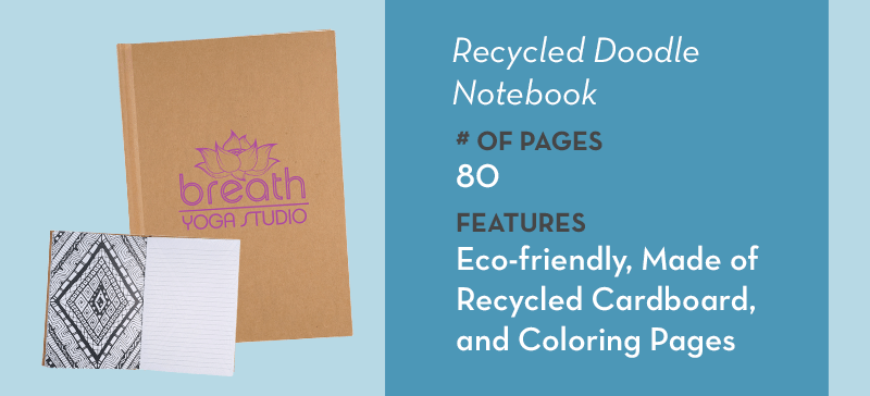 Recycled Doodle Notebook
