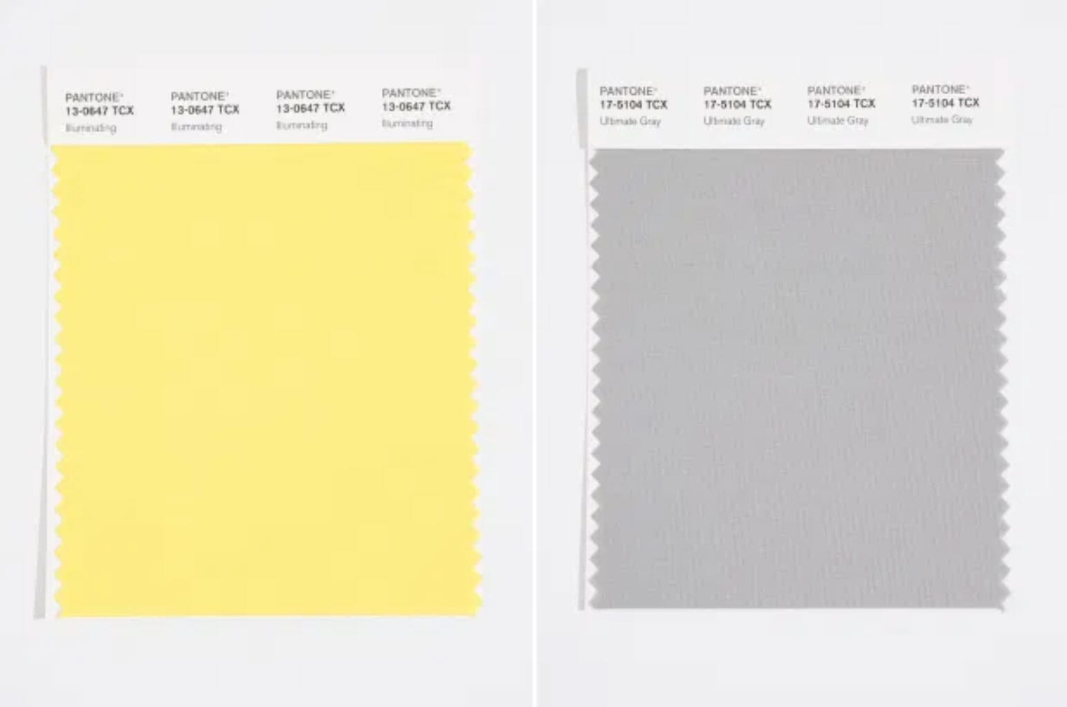 2021 Pantone Colors of the Year Swatches