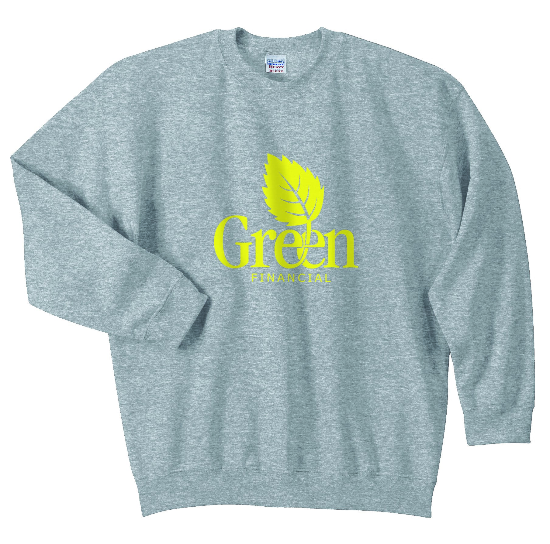Gray sweatshirt with yellow logo