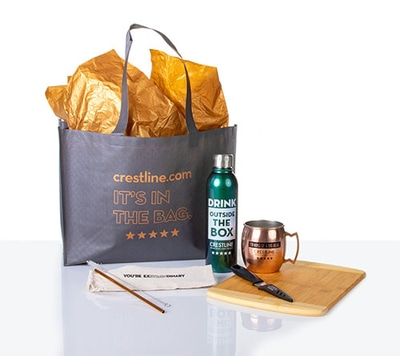 Gray and gold employee appreciation gift set
