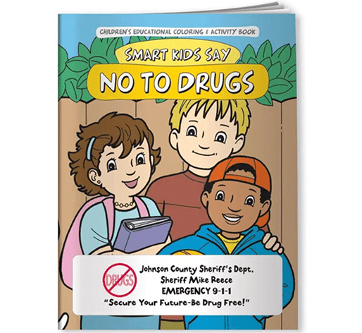 drug awareness coloring book