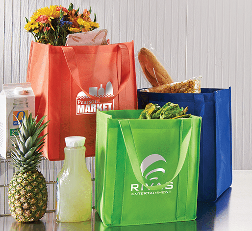 customized reusable grocery totes