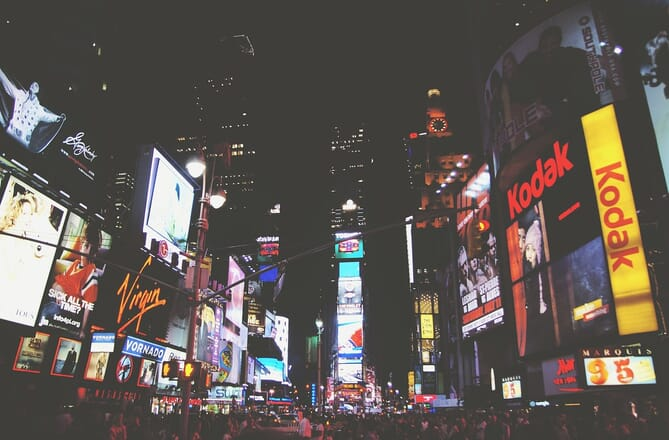 New York's Times Square at night