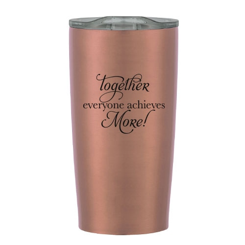 Copper insulated tumbler with education slogan