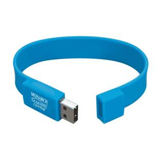 blue usb flash drive wristlet