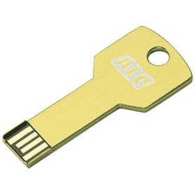 yellow metal key-shaped usb flash drive