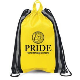 Reflective Safety Drawstring Backpack-Large