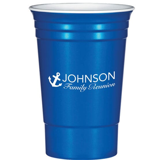 Reusable cup with logo