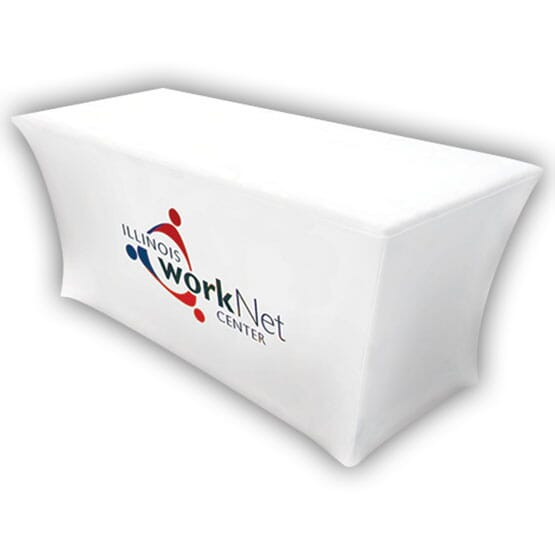 8ft UltraFit Table Cover – Full Color Front Dye-Sub