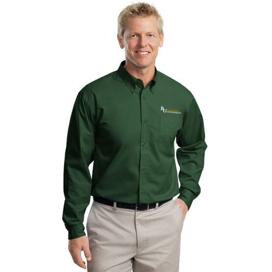 Forest green Port Authority easy care shirt