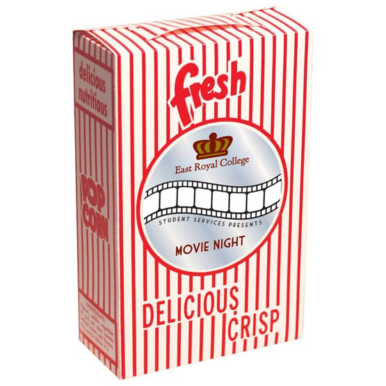 Closed Top Movie Popcorn Box