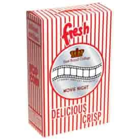 Closed Top Movie Popcorn Box