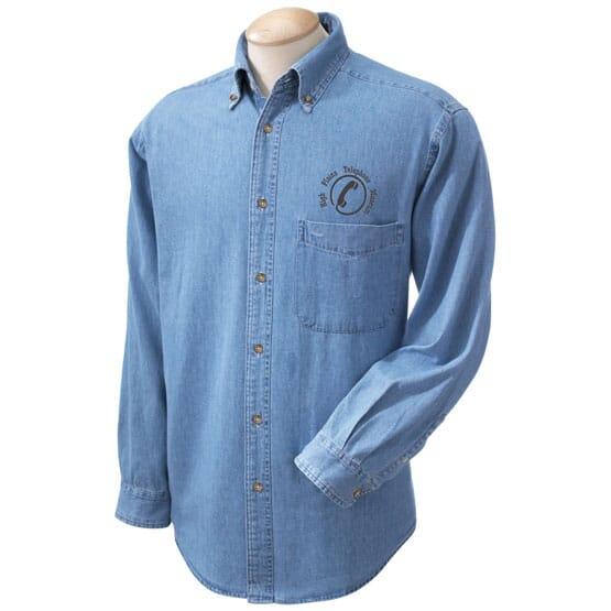 Men's Harriton Denim Shirt