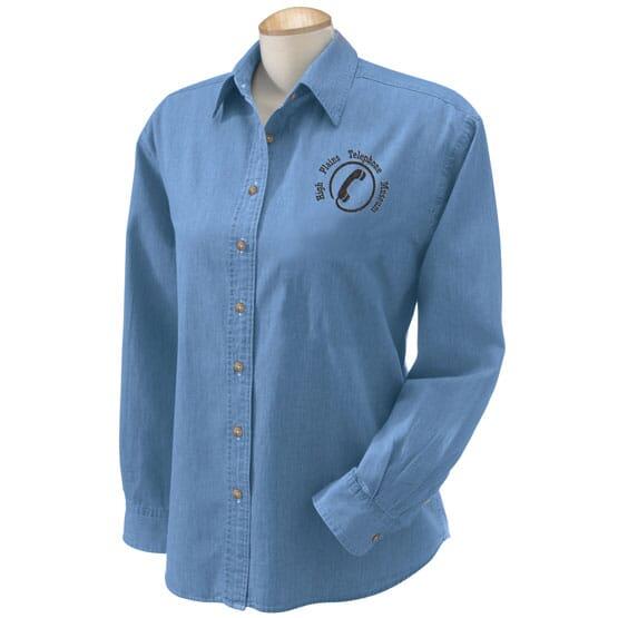 Ladies' Harriton Denim Shirt