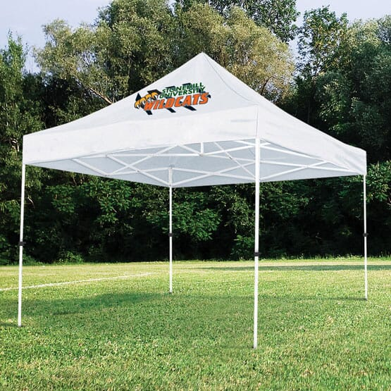 event tent with logo