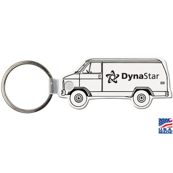 Glossy Key Tag - Van
