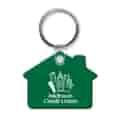 Glossy Key Tag - House