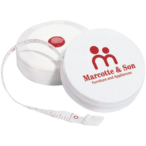 Round measuring tape with logo