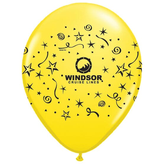 "9"" AdWrap® Themed Balloons- Standard Colors"