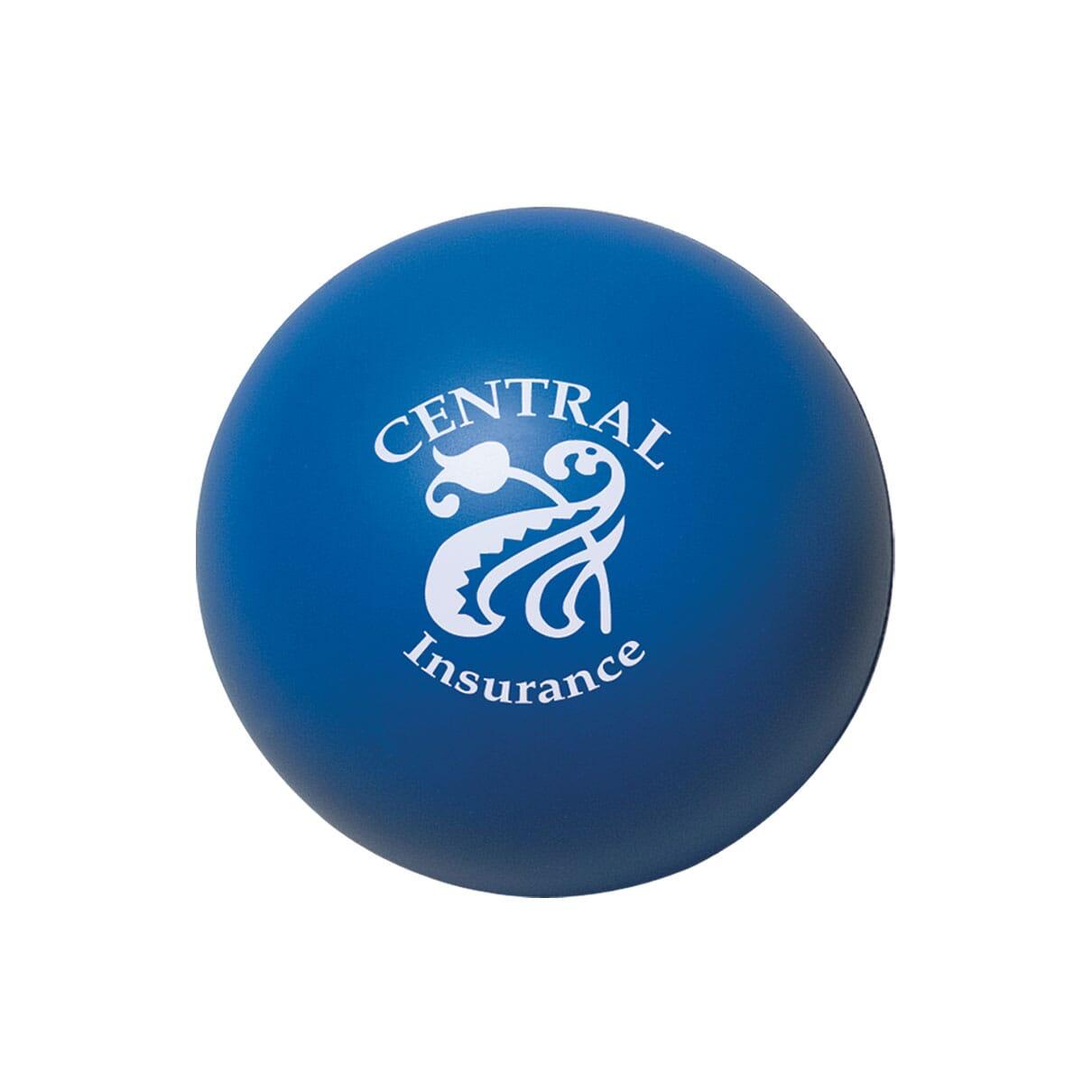 Customized blue stress ball