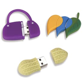 Custom Shapes PVC Flash Drive 2GB