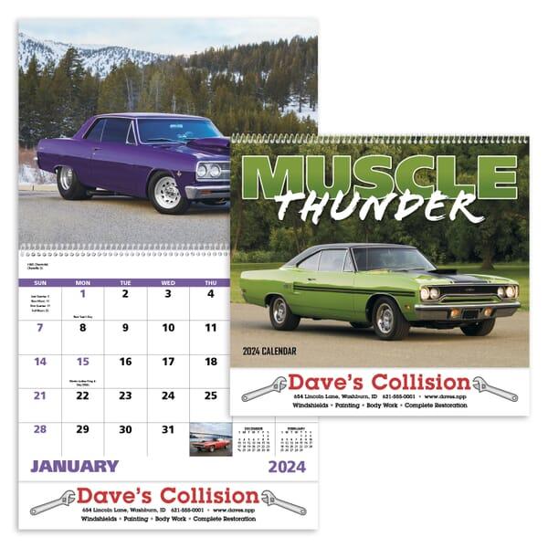 2021 Muscle Thunder Calendar - Spiral