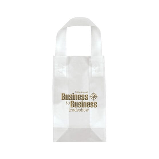 "5"" x 8"" x 3"" Frosted Shopping Plastic Bag"