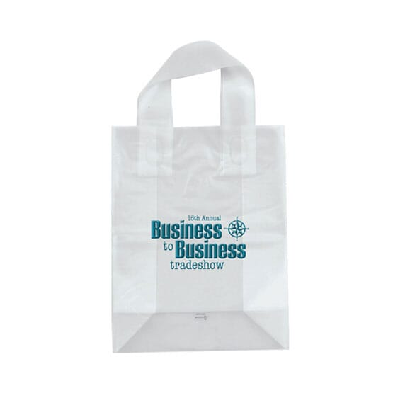 "8"" x 10"" x 4"" Frosted Shopping Plastic Bag"