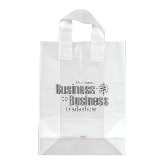 "10"" x 13"" x 5"" Frosted Shopping Plastic Bag"