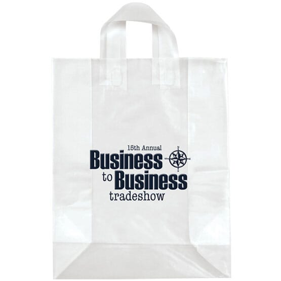 """13"""" x 17"""" x 6"""" Frosted Shopping Plastic Bag"""