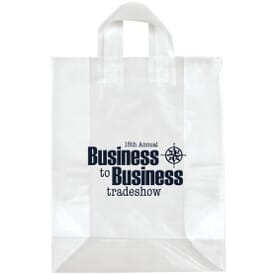 "13"" x 17"" x 6"" Frosted Shopping Plastic Bag"