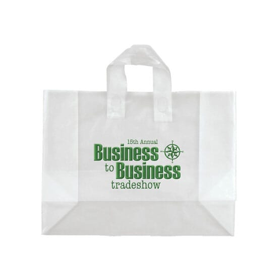 """16"""" x 12"""" x 6"""" Frosted Shopping Plastic Bag"""