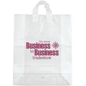 """16"""" x 19"""" x 6"""" Frosted Shopping Plastic Bag"""