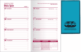 2021 Predictable Weekly Planner- Translucent