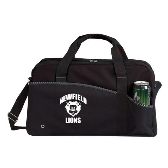 (50) BLACK Scoreboard Sports Bag - 24hr Service, 1 COLOR IMPRINT