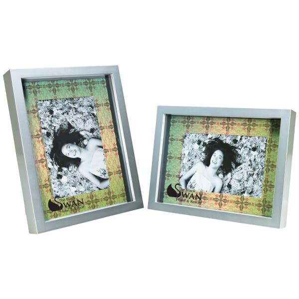 "Custom Mat Silver Frame - 4"" x 6"""