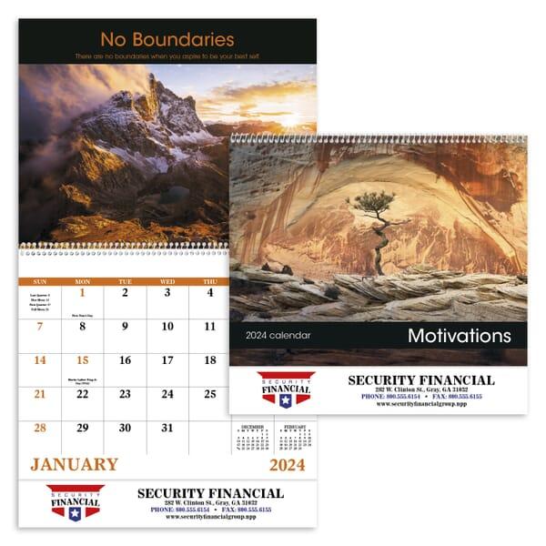 2021 Motivations Calendar - Spiral