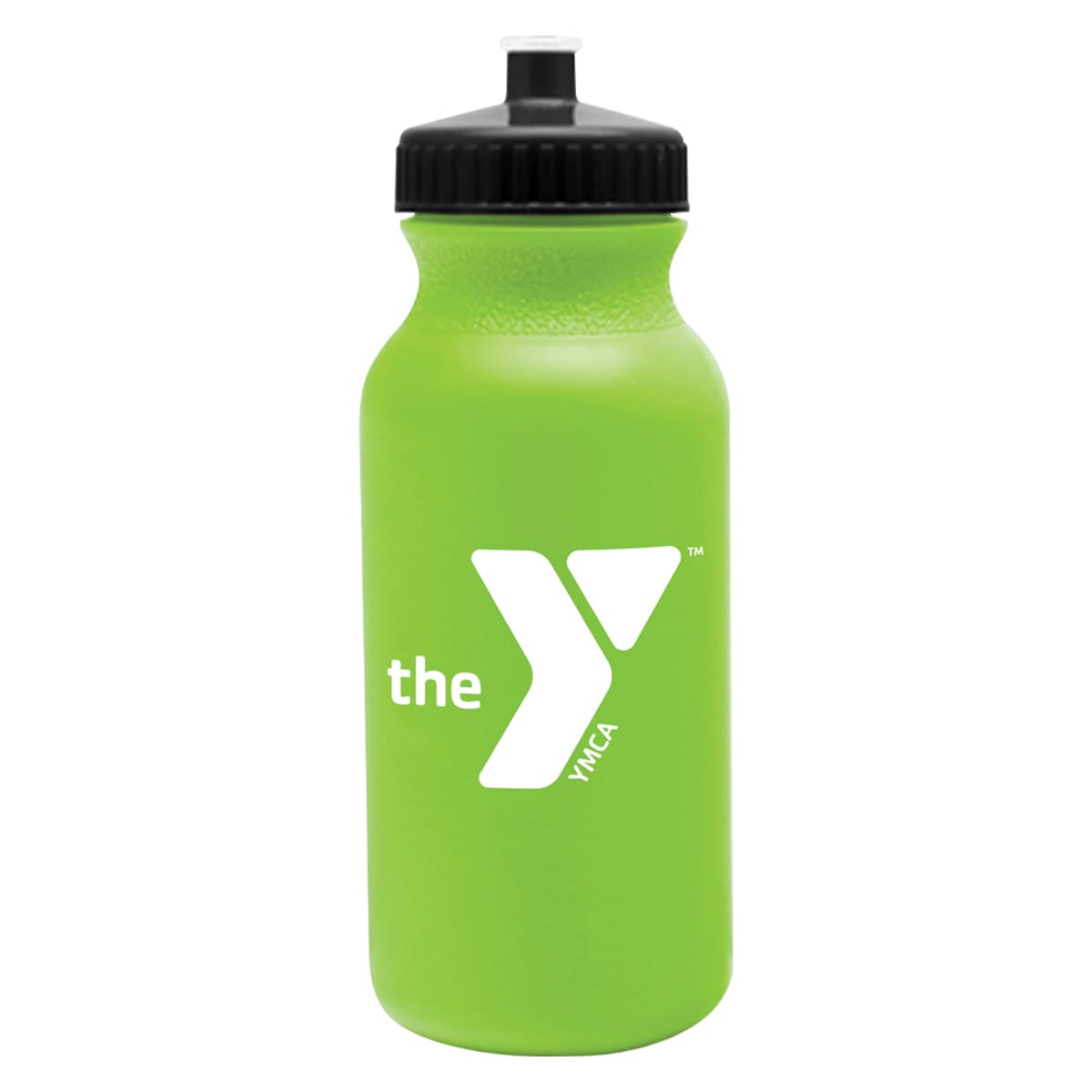 100 Bulk Pack 20 Ounce Water Bottles White Bottle With Green Lids USA Made