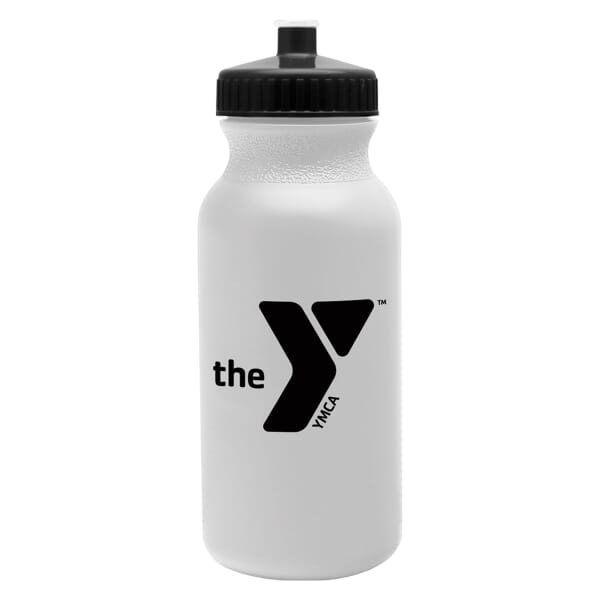 20 oz Bike and Sports Bottle - White