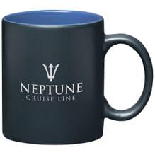 Matte black and shiny blue coffee mug