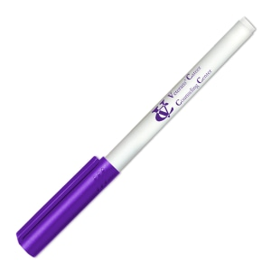 White dry erase marker with purple cap and purple logo