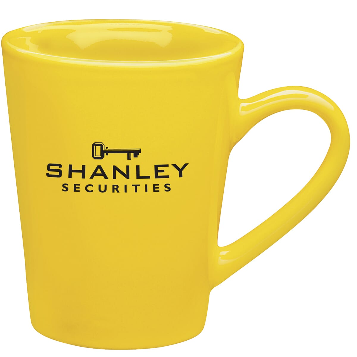 Yellow customized ceramic mug