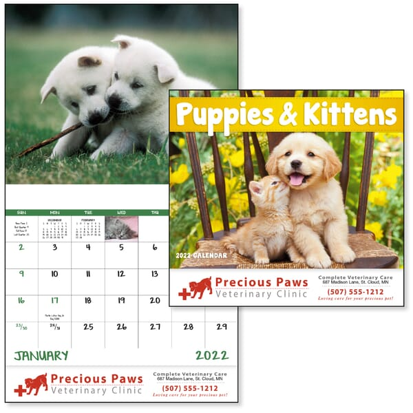2021 Puppies & Kittens Calendar - Stapled